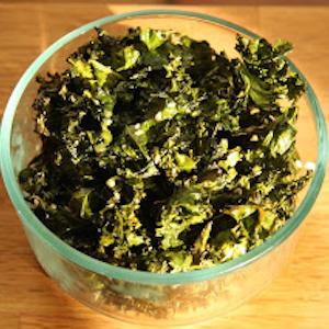 Sesame Ginger Kale Chips Recipe