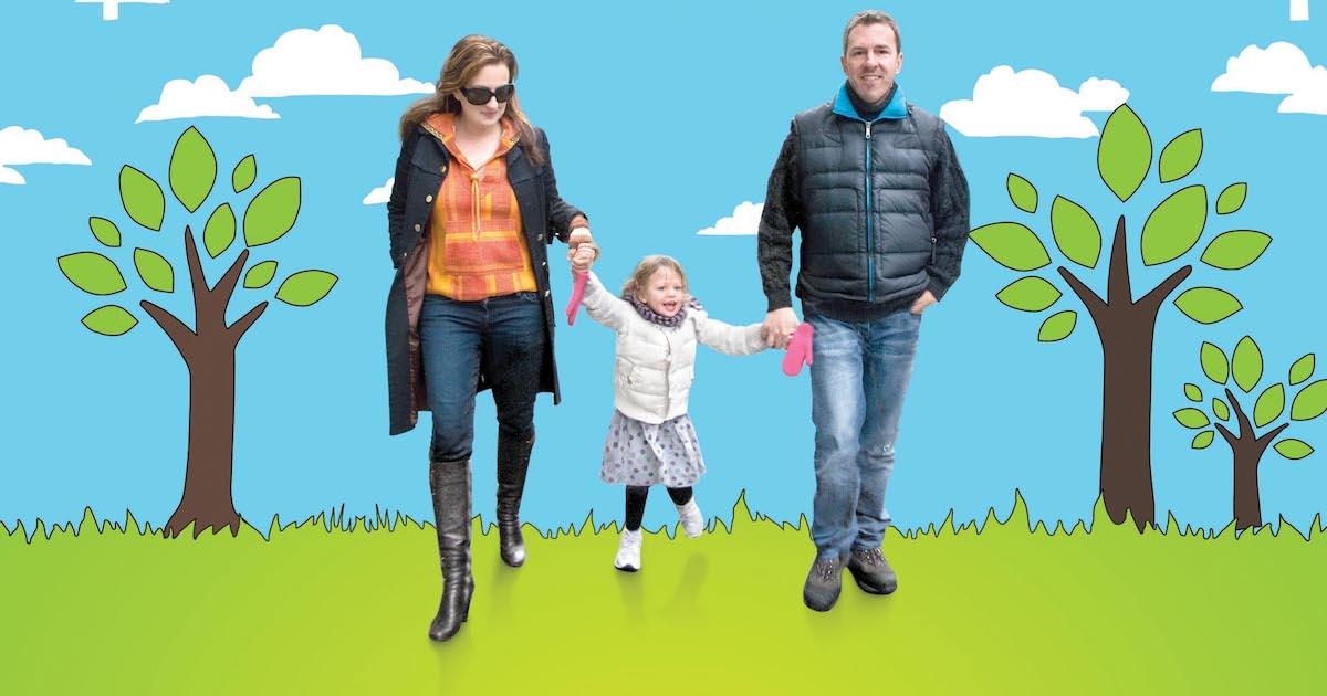 No Impact Man documentary family walking
