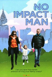 No Impact Man Movie Poster Colin Beaver, Michelle Conlin and their daughter walking with New York background